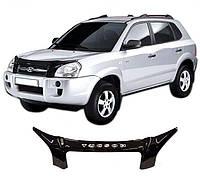 Дефлектор капота  Hyundai TUCSON с 2004, Мухобойка Hyundai TUCSON