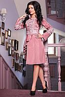 Женский оригинальный плащ нежно-розового цвета
