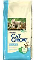 Корм Cat Chow Kitten с курицей для котят 15 кг