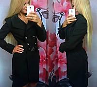 Пальто женское Рита черное , пальто весна