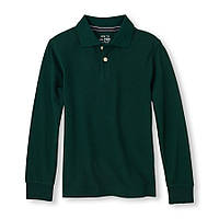 Детская школьная зеленая кофта поло для мальчика, на рост 104-118 см. (арт.3729)