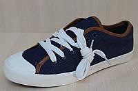 Джинсовые кеды подросток, спортивная стильная, удобная, текстильная обувь р.40,41