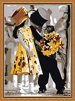 Раскраска по цифрам Первое свидание (KH225) 40 х 50 см