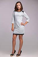 Платье прямого силуэта из плотного трикотажа, фото 1