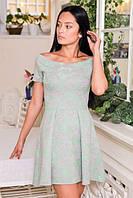 Нежное платье спадающее с плеч