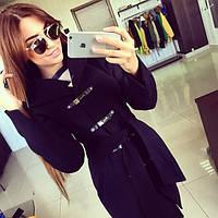 Пальто женское 01 черное , женское пальто недорого