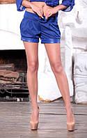 Шорты женские с кожаными манжетами мод.5