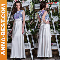 """Белое вечернее платье длинное """"Магнолия"""""""