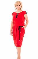 Яркое женское платье большого размера, фото 1