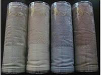 Красивое велюровое полотенце в тубе 50х100 Sahra