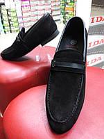 Туфли мужские из натуральной замши премиум класса  МИДА 11034.