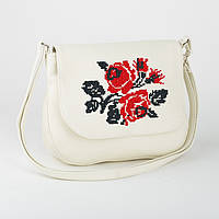 """Женская сумочка из эко-кожи с вышивкой """"Розы"""""""