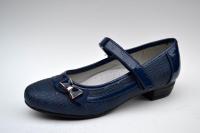 Туфли для девочки темно-синие с бантиком 32,33,34 раз.