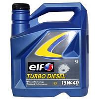 Моторное минеральное масло ELF(эльф) TURBO DIESEL 15w-40 5л.