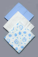 Комплект байковых пеленок для мальчика