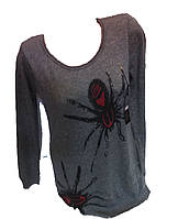 Женская кофта паук