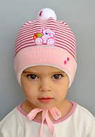 """Демисезонная шапка для девочки """"Тедди"""""""