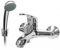 Смеситель для ванны однорычажный FERRO ROSA BRR11,кран в ванную с душевым набором