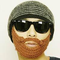 Шапка-балаклава лыжная маска с бородой