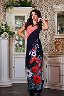 Яркое платье в пол с цветочным принтом