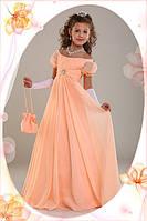 Нарядное платье Ирина 1708 персиковое