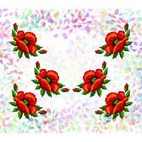 "Водорастворимый флизелин с рисунком ""Confetti"" (K 234 Маки)"