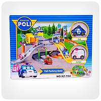 Парковка-гараж «Robocar Poli» - Парковка Поли (паркинг + 2 машинки Поли и Эмбер)