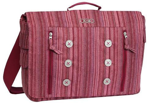 """Стильная женская сумка-мессенджер с отделением для ноутбука 15"""" OGIO Midtown Messenger 114005.616 Raspberry"""