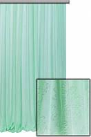 Тюль с оттиском, цвет светло-зеленый