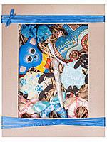 Подарочный новогодний набор большой детский. Синяя обезьянка