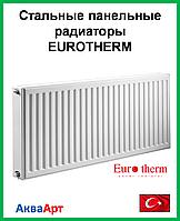 Стальной панельный радиатор  Eurotherm 22k 300*1500 б.п.