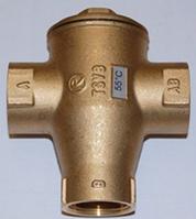 Трехходовой смесительный клапан для твердотопливных котлов Regulus TSV6 (55°C) - 1 1/2