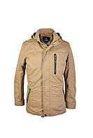 Куртка - ветровка мужская с отстёгивающимся капюшоном и логотипом на рукаве