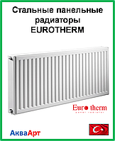 Стальной панельный радиатор  Eurotherm 22k 300*1900 б.п.