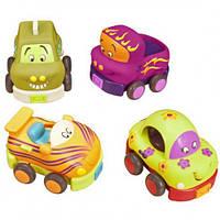 Игровой набор Battat – Забавный автопарк (4 машинки-погремушки)
