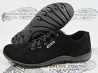 Кроссовки женские Ecco замшевые, черные