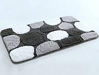 Набор ковриков для ванной Irya Gravel черный 70*120 + 45*60