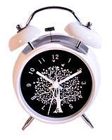 Часы с подсветкой - Дерево, белые