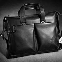 Мужская кожаная сумка. Сумка для ноутбука.