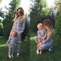 Family Look парные спортивные костюмы для мамы и дочки Teddy