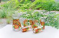 Кувшин и 6 стаканов «Осенние астры»