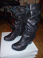 Сапоги кожанные женские каблук 7см