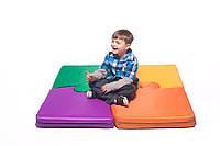 Кофрик-мат игровой для детей пазлы 4 шт. размер стандарт