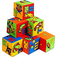 """Набор мягких кубиков 6 штук """" Азбука"""" Умная игрушка"""
