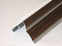 Карниз орех двухрядный алюминий -2,5м