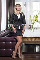 Модный женский костюм из пиджака и юбки офисного стиля