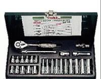 """Инструмент HANS. Набор торцевых дюйм головок 1/4"""" , 26 предм. от 5/32"""" до 1/2"""" (2626A) 6 гран."""