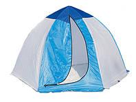 Палатка зимняя для зимней рыбалки на алюминиевом каркасе СТЭК 3 местная