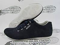 Кроссовки женские Ecco замшевые, синие
