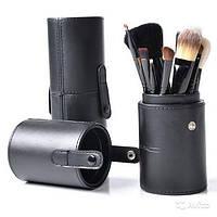 Набор кистей для макияжа из 12 штук в черном тубусе
